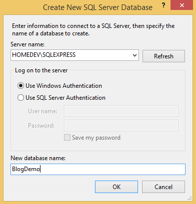 Select server name and database name