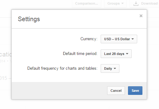 Youtube Analytics Default currency feature