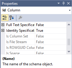 Setting the identity specification of a column